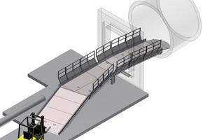Aluminium access ramp