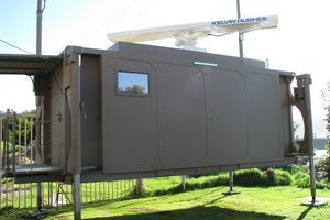 Mobile radar container